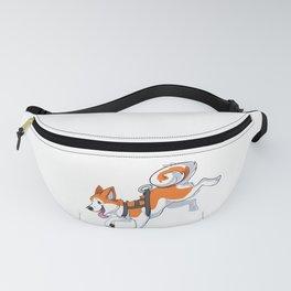 Orange Husky Running Fanny Pack