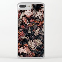 Autumn to winter dry leaves Clear iPhone Case