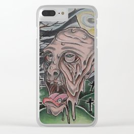Melting face Clear iPhone Case
