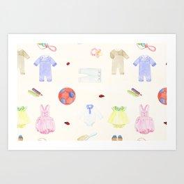 Baby Clothes Art Print