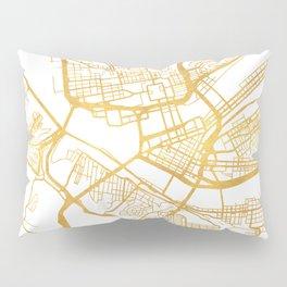 PITTSBURGH PENNSYLVANIA CITY STREET MAP ART Pillow Sham