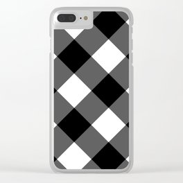 black and white 3 Clear iPhone Case