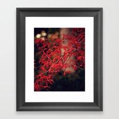 Woodland Red Framed Art Print