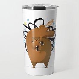 small and big bear Travel Mug