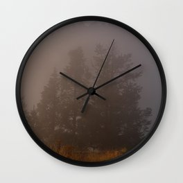 Morning Mist Poon Hill Wall Clock