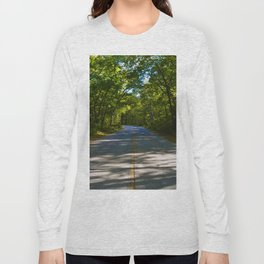 The road to Point Pelee National Park, Southern Ontario, Canada Long Sleeve T-shirt