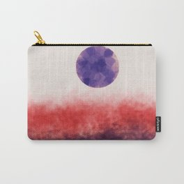 Orange landscape with purple moon Carry-All Pouch