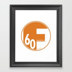 Full60 Alternate (Seattle) Framed Art Print