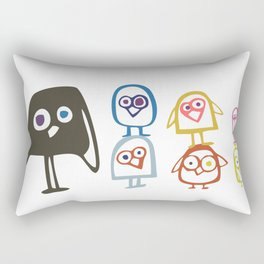Art Print Home Decor Children Nursery Baby Infant Wall Graphic Design Angry Birds Color Pyramid Rectangular Pillow
