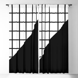 EIGHTIES PATTERN (BLACK-WHITE) Blackout Curtain