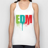 edm Tank Tops featuring EDM Lover by DropBass