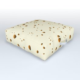 A lot of orange drops and petals on a gentle background in mother of pearl. Outdoor Floor Cushion