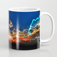 minneapolis Mugs featuring Minneapolis at Lightspeed by Katie Mae Dickinson