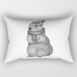 Chipmunk on a Chilly Day Rectangular Pillow