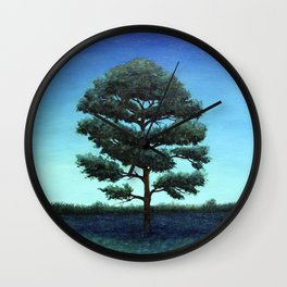 Nocturnal Southern Pine Wall Clock
