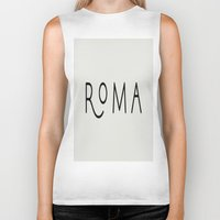 rome Biker Tanks featuring rome by LA creation