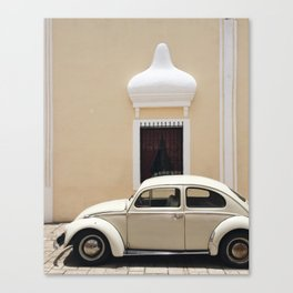 Yellow Punch Buggy / Valladolid, Mexico Canvas Print