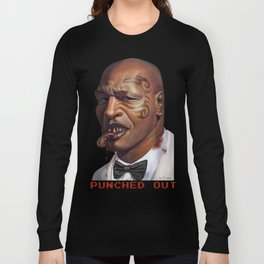 """Mike Tyson """"Punched OUT"""" Long Sleeve T-shirt"""