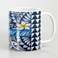 ohana Mugs featuring Ohana (family in hawaiian) by Lonica Photography & Poly Designs