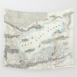 Vintage Map of The Great Salt Lake (1852) Wall Tapestry