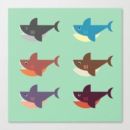 Snarky Sharky Canvas Print