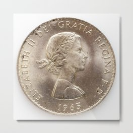 Elizabeth II 1963 Metal Print
