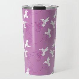 Humming Bird Pink Travel Mug