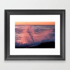 Sea Spray & Sunrise Framed Art Print
