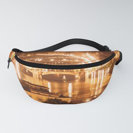 florence ponte vecchio at night aerial view Fanny Pack