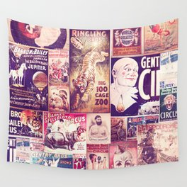 Circus Collage 2 Wall Tapestry