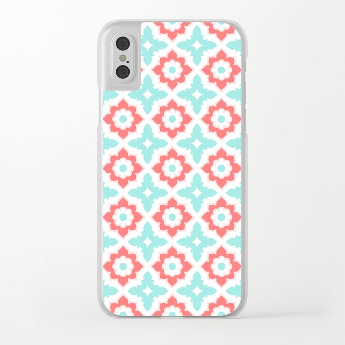 Moroccan Tile Clear iPhone Case