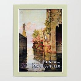 1920 Romantic Lenno Lake Como Poster