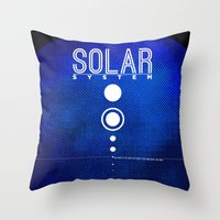solar system Throw Pillows featuring Solar System by Sixtybones