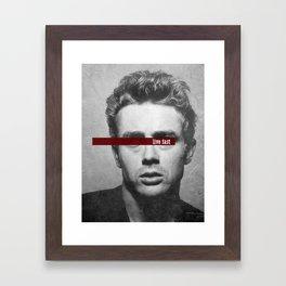 Live Fast Framed Art Print