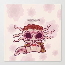 Kawaii Axolotl Canvas Print