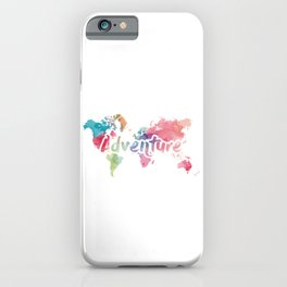 Adventure World Map iPhone Case