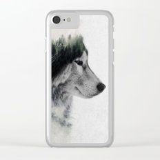 Wolf Stare Clear iPhone Case