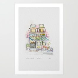 'Florarie' The Florist Shop in Romania Art Print