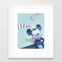 mickey Framed Art Prints featuring Mickey? by smooz