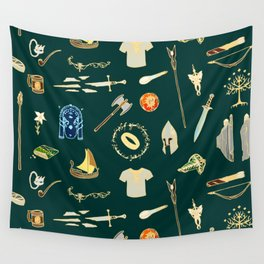 Lord of the pattern green Wall Tapestry