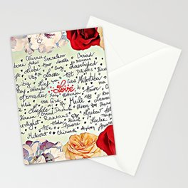 Love injected Stationery Cards