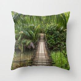 Bridge to Paradise - Costa Rica Throw Pillow