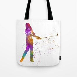 Golf player in watercolor-13 Tote Bag