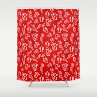 mexican Shower Curtains featuring Mexican Fiesta by Colour and Chaos by Jodi English