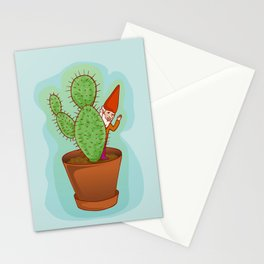 fairytale dwarf with cactus Stationery Cards