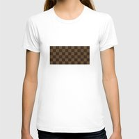 lv T-shirts featuring LV pattern style by aleha