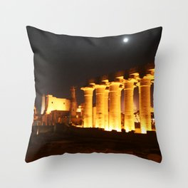 The night and the moon at Temple of Luxor, no. 29 Throw Pillow