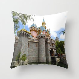 Sleeping Beauty's Castle (Daytime, no.1) Throw Pillow