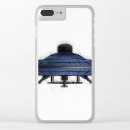 Retro UFO Clear iPhone Case