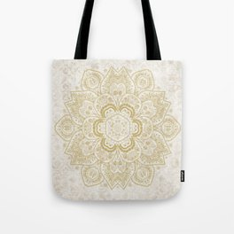 Mandala Temptation in Golden Yellow Tote Bag